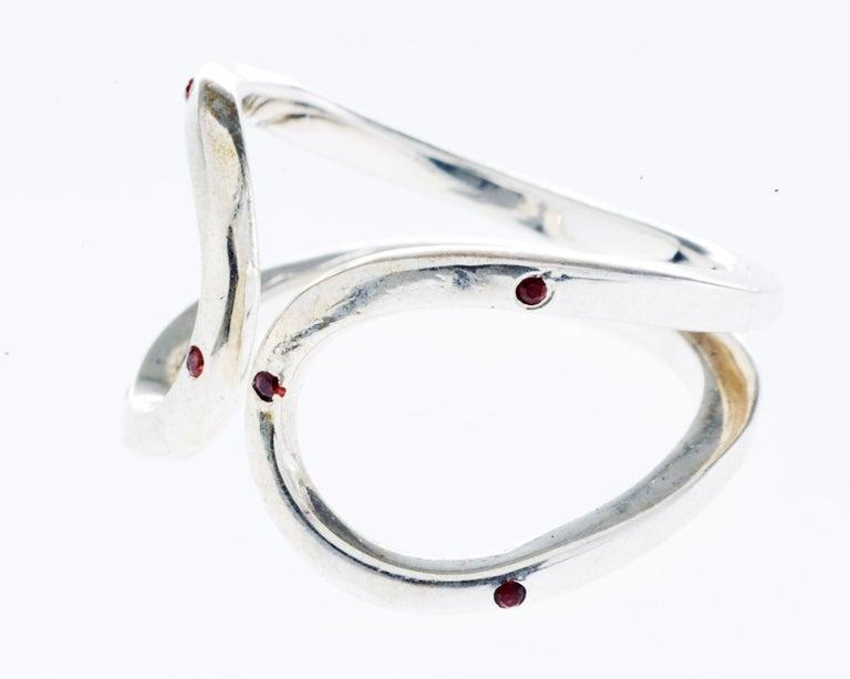 Love Ring White Gold Orange Sapphire Adjustable J Dauphin J DAUPHIN