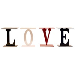 Love Set of 4 Letter Coffee Tables
