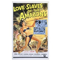 Love Slaves Of The Amazons, Vintage and Original Poster, circa 1957