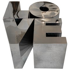 Love Sofa Table LOVE in the Style of Robert Indiana, 1970