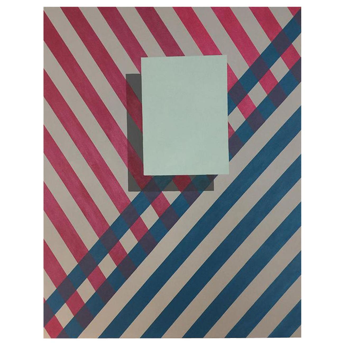 """Love Stripe"" Painting/Acrylic Geometric Modern on Canvas by Cecilia Setterdahl"