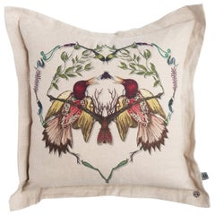 Lovebirds Cushion by Timorous Beasties