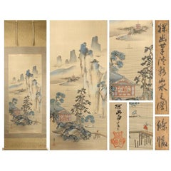 Lovely 17th-18th Century Scroll Painting Japan Artist Kano Soyu Painted