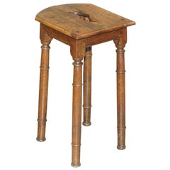 Lovely 18th Century Dutch Stool with Handle Cut Out in the Top Bar Pub Study