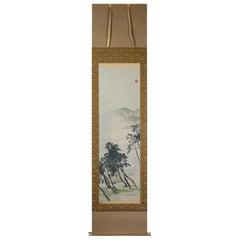 Lovely 19th-20th Century Scroll Painting Japan Artist Kawagoi Tamado Painted