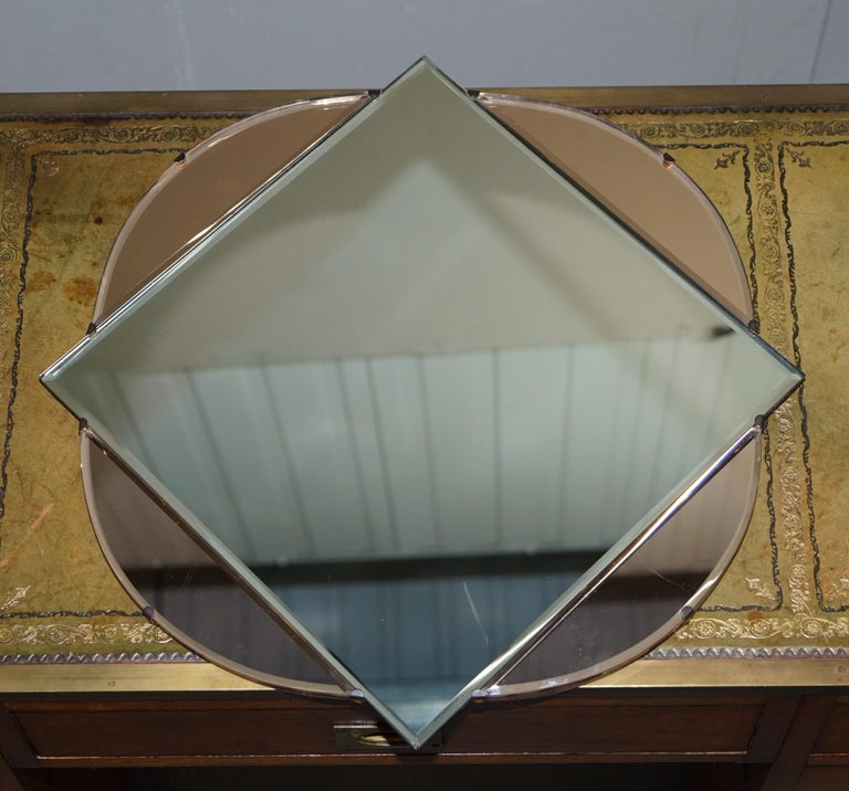 We are delighted to offer for sale this stunning and exceptionally rare circa 1930s Art Deco glass French Venetian mirror with beveled edge frame   A very good looking well made and decorative wall mirror, these are highly collectable, they never