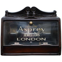 Lovely 1940s Counter Top Asprey London Jewellers Haberdashery Display Case