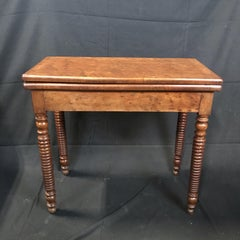 Lovely 19th Century French Provincial Walnut Game Table or Console