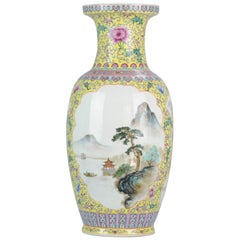 Lovely 20th Century ProC Chinese Porcelain Vase with Landscape