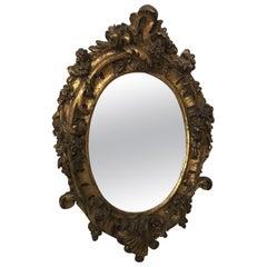 Lovely Antique Italian Gesso Gilt Mirror