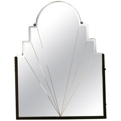 Lovely Art Deco Odeon Style Wall Mirror