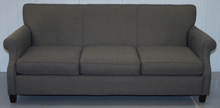 Astonishing Lovely Bernhardt Sharktooth Linen Grey Upholstery Contemporary Sofa Pdpeps Interior Chair Design Pdpepsorg