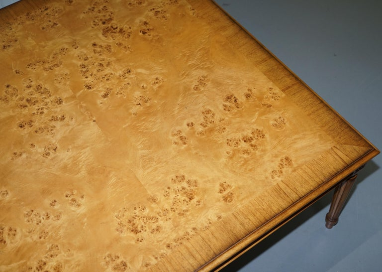 Lovely Burr Walnut Centre Occasional Table with Lion Hairy Paw Feet Lamp Side For Sale 3