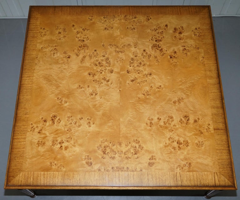 Lovely Burr Walnut Centre Occasional Table with Lion Hairy Paw Feet Lamp Side In Good Condition For Sale In London, GB