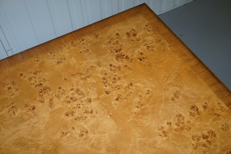 Lovely Burr Walnut Centre Occasional Table with Lion Hairy Paw Feet Lamp Side For Sale 1