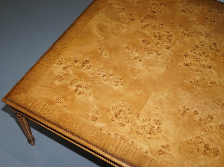Lovely Burr Walnut Centre Occasional Table with Lion Hairy Paw Feet Lamp Side For Sale 2