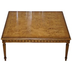 Lovely Burr Walnut Centre Occasional Table with Lion Hairy Paw Feet Lamp Side