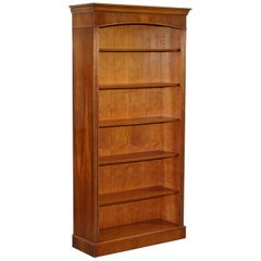 Lovely Burr Yew Wood Library Legal Bookcase with Height Adjustable Shelves