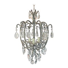 Lovely Crystal Chandelier in the Style of Maison Baguès, circa 1960