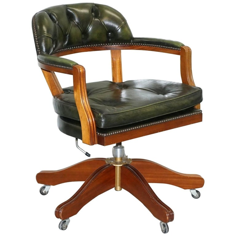 New Used Pilates Chair For Sale: Lovely Cushioned Chesterfield Admirals Court Captains Aged