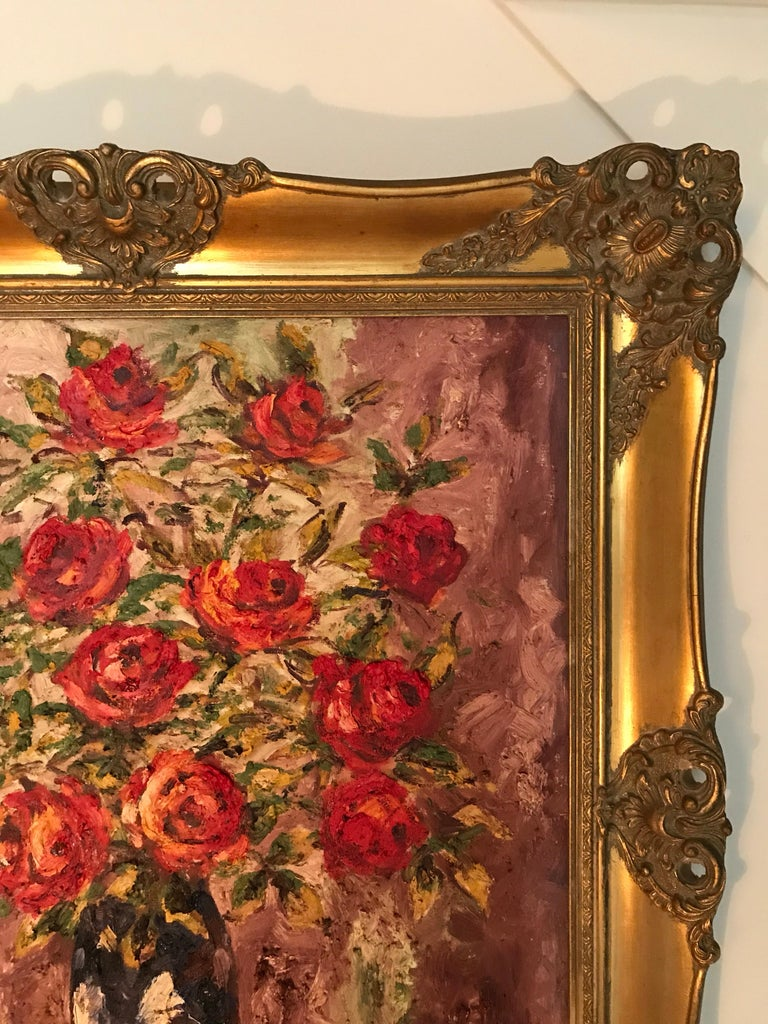 Lovely Danish Antique Oil on Canvas Painting by Braabye In Good Condition For Sale In Søborg, DK