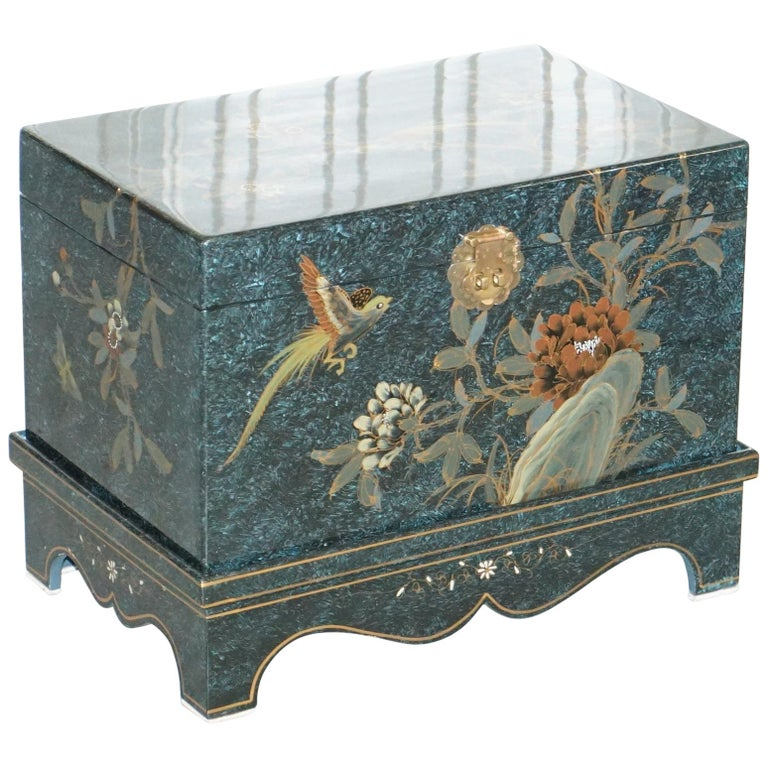 Chinese Chinoiserie Style Painted Trunk