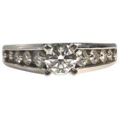 Lovely Diamond and Platinum Engagement Ring