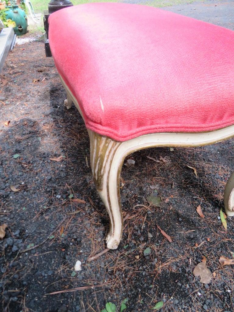 Lovely Dorothy Draper Style Cabriole Leg Bench Hollywood Regency For Sale 1