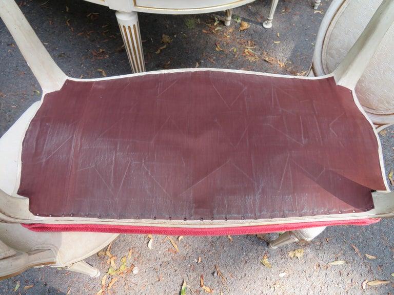 Lovely Dorothy Draper Style Cabriole Leg Bench Hollywood Regency For Sale 3