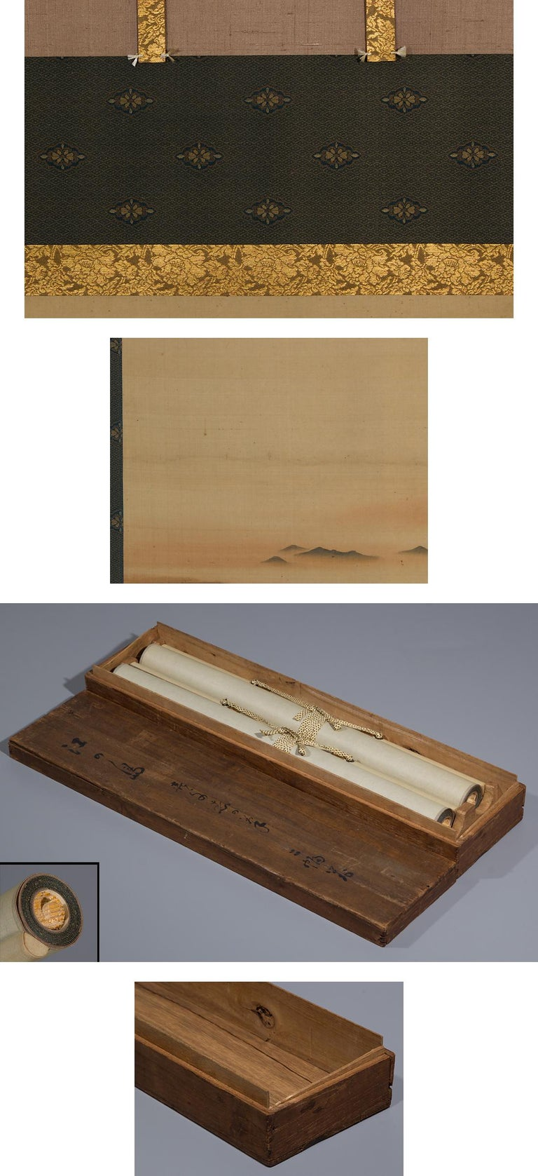 Meiji Lovely Early 20th Century Scroll Paintings Japan Artist Signed Landscape Pair For Sale