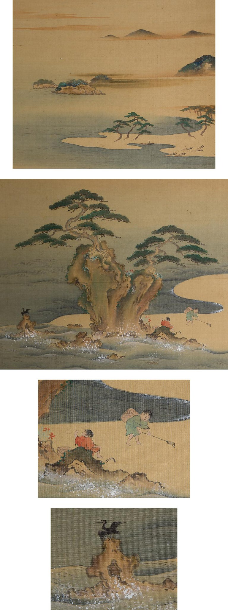 Lovely Early 20th Century Scroll Paintings Japan Artist Signed Landscape Pair In Good Condition For Sale In Amsterdam, Noord Holland