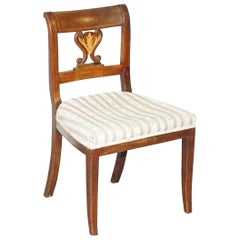 Lovely Early Victorian Inlaid French Walnut Side Chair Ideal as Bedroom Dressing