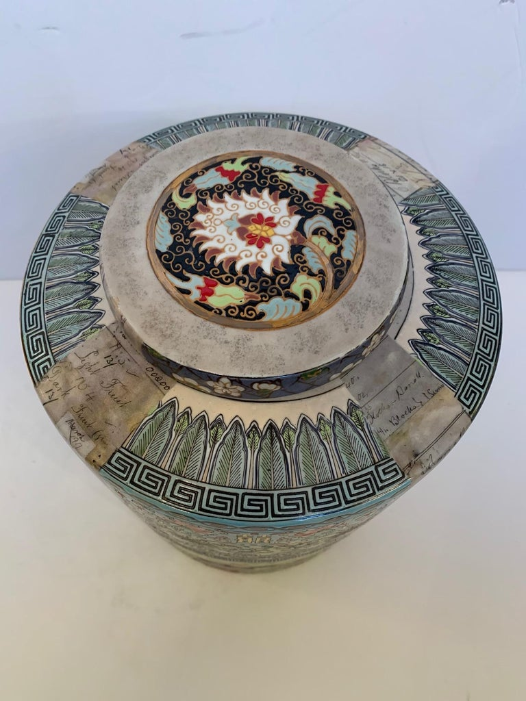 Contemporary Lovely Fabienne Jauvin Lidded Vessel For Sale