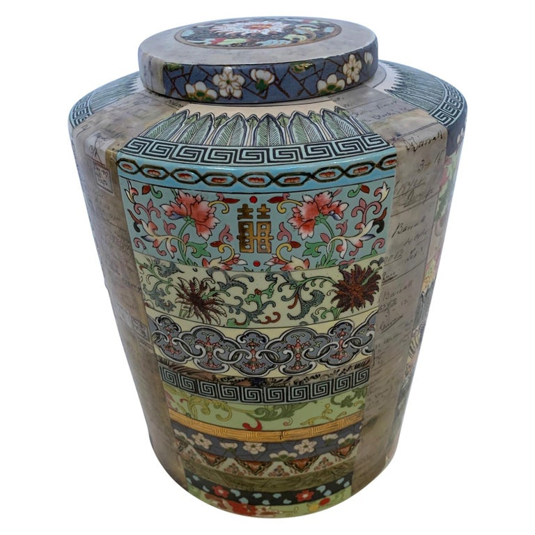 Lovely Fabienne Jauvin Lidded Vessel For Sale