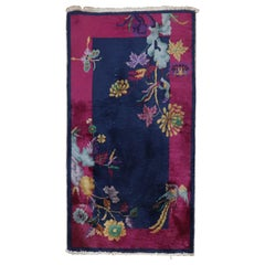 Lovely Floral Art Deco Chinese Scatter Size Rug