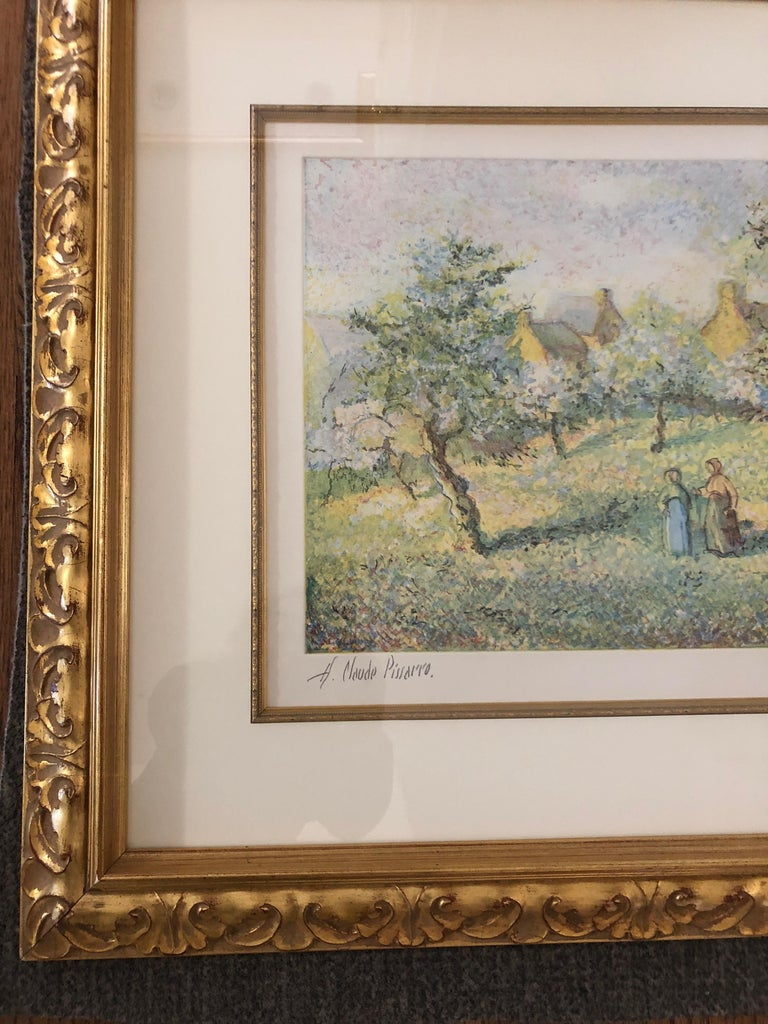 Lovely Framed Trees in Bloom Aquatint Signed by H Claude Pissarro 5