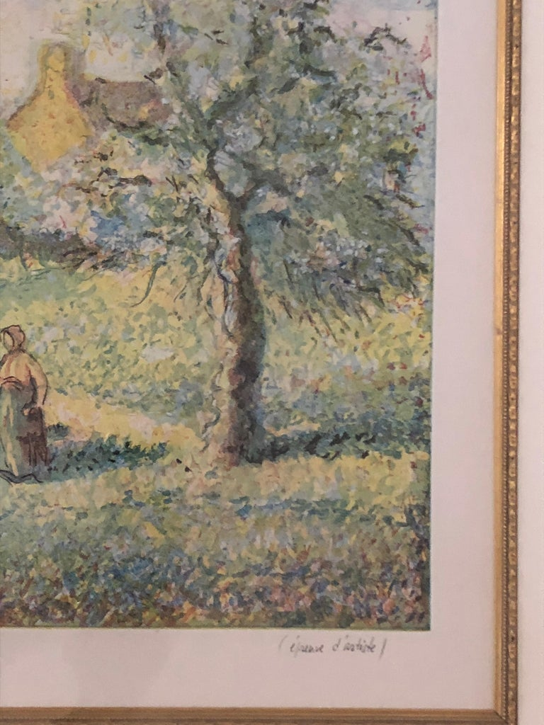 Lovely Framed Trees in Bloom Aquatint Signed by H Claude Pissarro 2