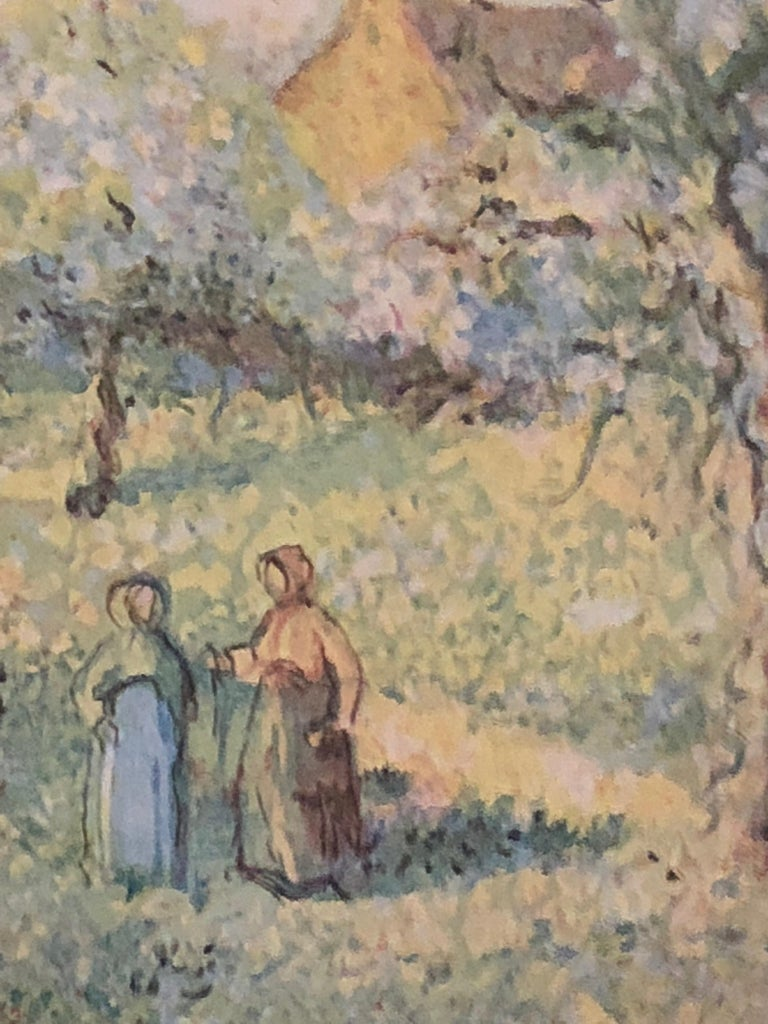Lovely Framed Trees in Bloom Aquatint Signed by H Claude Pissarro 3
