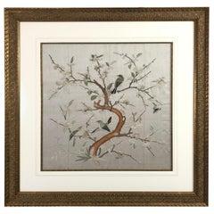 Lovely Framed Vintage Japanese Silk Embroidery