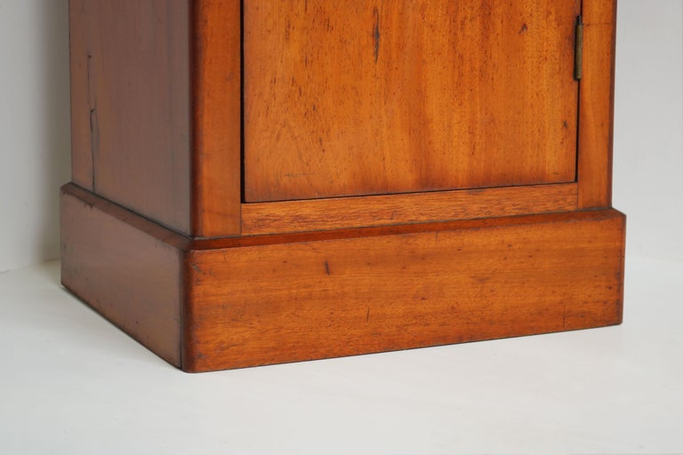 Louis XVI Lovely French Antique 19th Century Night Stand / Bedside Table with Carrara Top For Sale