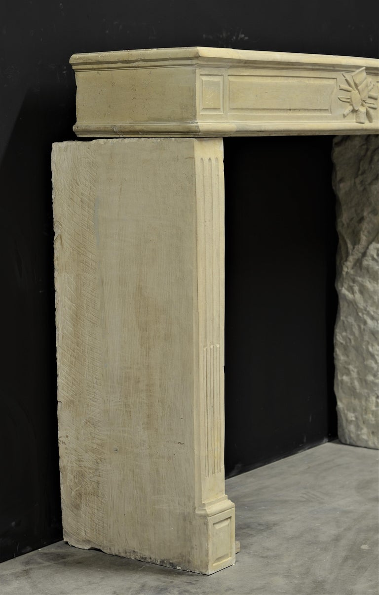 Lovely French Antique Louis XVI Fireplace Mantel For Sale 4