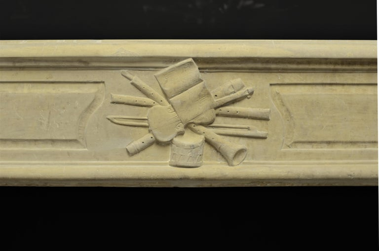 19th Century Lovely French Antique Louis XVI Fireplace Mantel For Sale