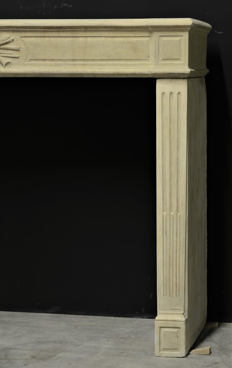 Lovely French Antique Louis XVI Fireplace Mantel For Sale 1