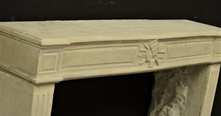 Lovely French Antique Louis XVI Fireplace Mantel For Sale 2