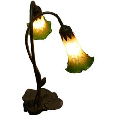 Lovely French Art Nouveau Style Lilly Pad Lamp