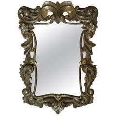 Lovely French Gold Pressed Brass Ornate Mirror