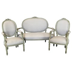 Lovely French Louis XVI Belle Epoque Parlor or Salon Set