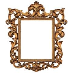 Lovely Gold Italian Highly Ornate Carved Frame