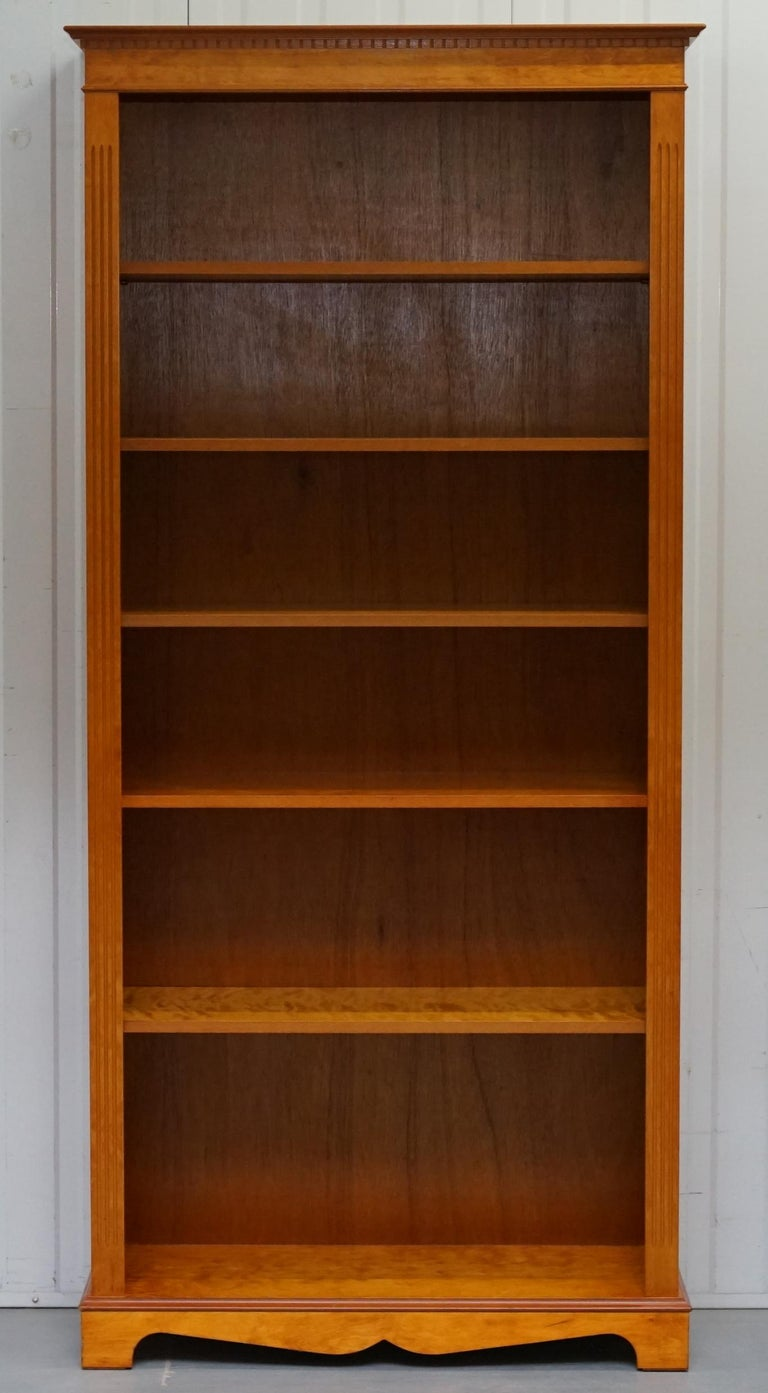 Swell Lovely Golden Solid Walnut Library Bookcase With Adjustable Shelves Download Free Architecture Designs Intelgarnamadebymaigaardcom