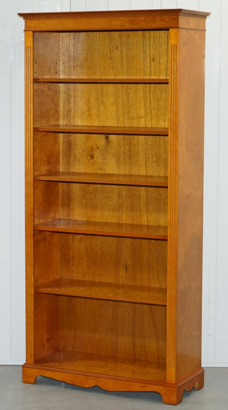 Groovy Lovely Golden Solid Walnut Library Bookcase With Adjustable Shelves Download Free Architecture Designs Intelgarnamadebymaigaardcom